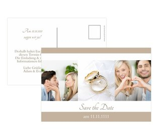 Verschicken Sie Save the Date Karten an Ihre Gäste - Noch vor den Hochzeitseinladungen
