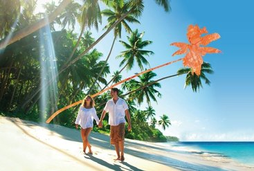 Hochzeitsreise unter Palmen