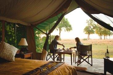 Teatime im Governors Camp in Kenia