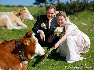 Kampenwand – Brautpaar in ländlicher Idylle